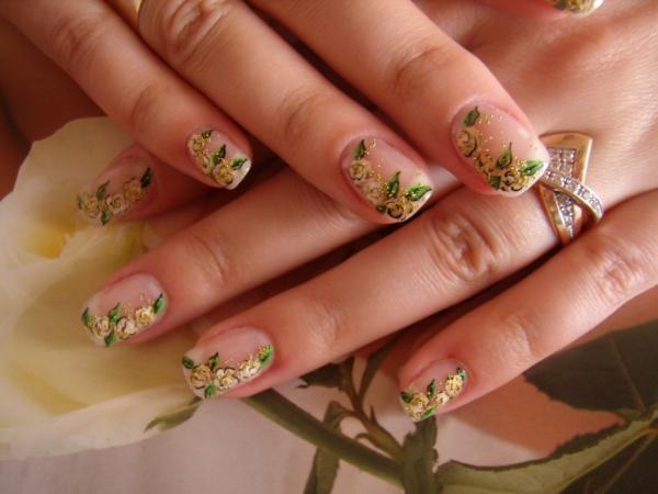 Фото нарощенных ногтей абстракция