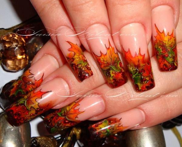 Дизайн ногтей осень фото